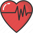 cardiology, heartbeat, lifeline, pulsation, pulse icon