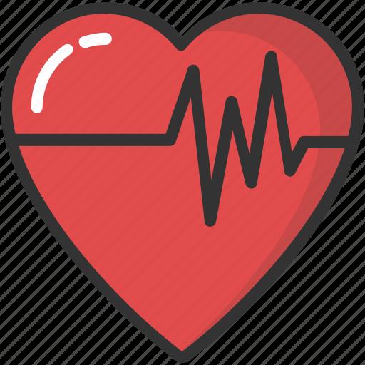 cardiology, heartbeat, lifeline, pulsation, pulse icon