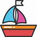 boat, sailboat, sailboat race, sailing, yacht icon
