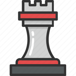 chess game, chess knight, chess piece, chess rook, rook icon
