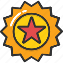 achievement, medal, prize, reward, sports star badge icon