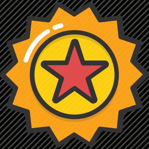 achievement, medal, prize, reward, sports star badge icon