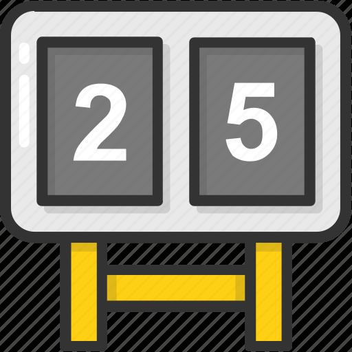 game score, match results, scoreboard, scores, sports board icon