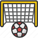 football goal, football net, goal post, handball net, soccer net icon