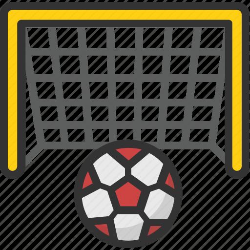 football goal, football net, goal post, handball net, soccer net icon