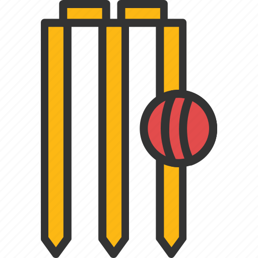 cricket, stump wicket, wicket, wicket and ball, wicket out icon