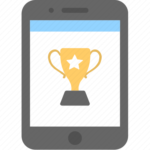 game, mobile, smartphone, trophy, winner icon