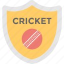 cricket, game, prize, shield, sports badge icon
