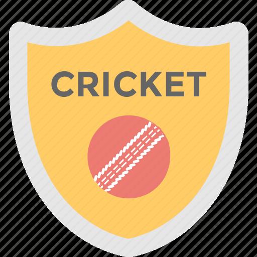 cricket, game, prize, shield, sports badge icon