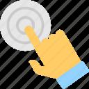 click, cursor, gesture, press, tap icon
