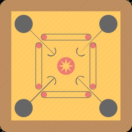 board, carrom board, fun, game, play icon