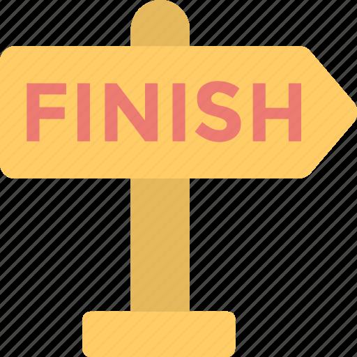 arrow, end, finish, finish line, signpost icon