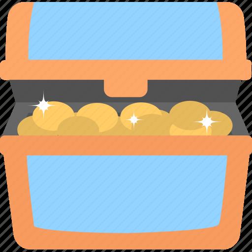 cash, coins, treasure, treasure chest, wealth icon
