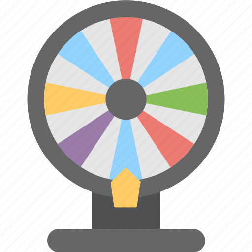 casino, fortune wheel, game, spin wheel, toy icon