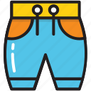 athletics knicker, bermuda short, clothes, knickers, undergarments icon