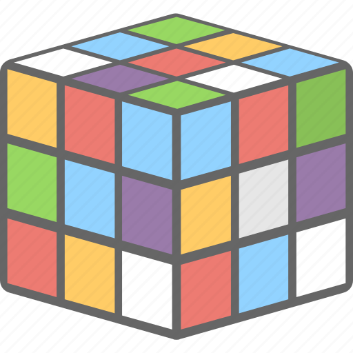 cubic, game, puzzle, rubik, toy icon