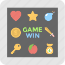 entertainment, game, play, videogame, win icon