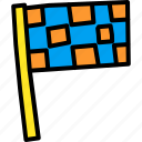 checkered, end, f1, flag, race
