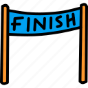 finish, line, race