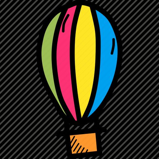 balloon, fly, parachute icon