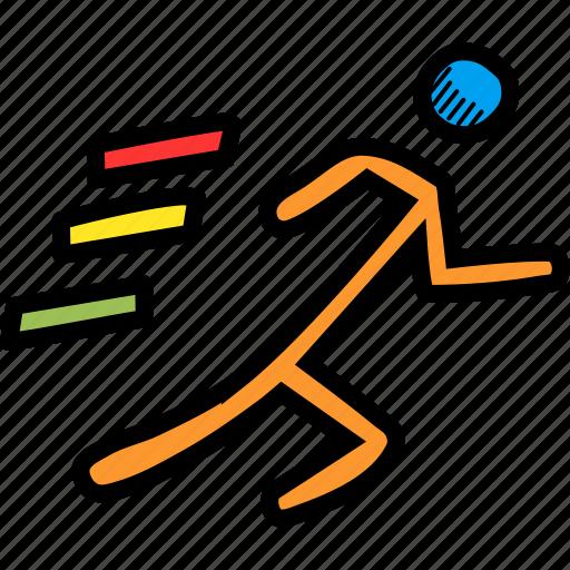 athletics, marathon, race, run, running icon