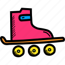 roller, rolling, shoes, skate, skater, skating icon