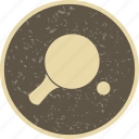 ping pong, pingpong, racket icon