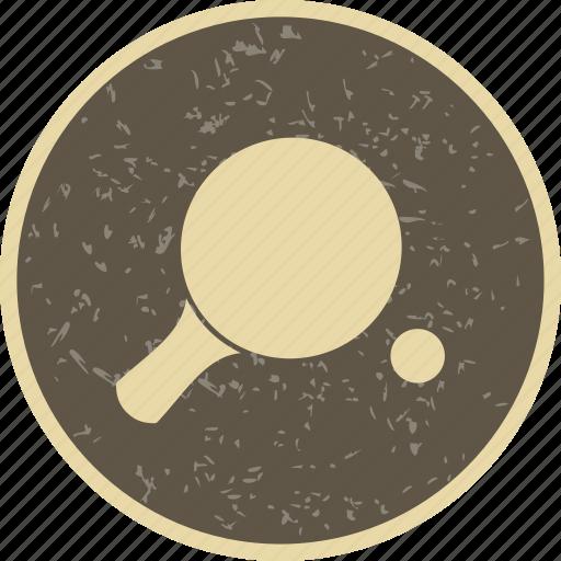 ping pong, pingpong, racket icon