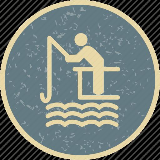 fish, fishing, rod icon