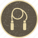 exercise, jumping, rope icon