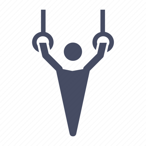 acrobatic, gymnast, gymnastic, gymnastics, rings icon