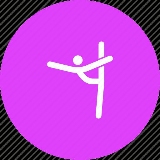 aerobic, aerobics, athletics, dance, gymnastic, gymnastics icon
