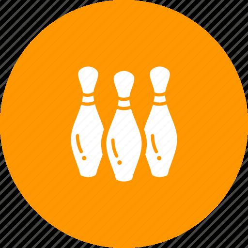 bowl, bowling, game, pin, pins, tenpin icon