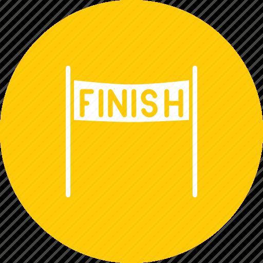 finish, line, race, racing icon