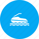 fun, jet, recreation, ski, skiing, sport, water icon