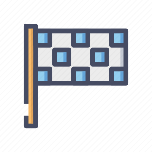 checkered, end, f1, flag, race icon