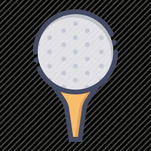 ball, golf, pin, tee icon
