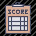 pad, paper, score, scorecard