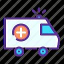 ambulance, care, emergency, health, medical, medicare icon