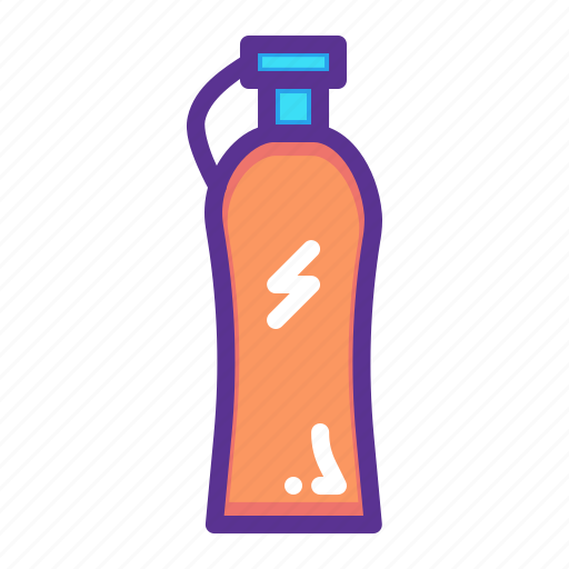 bottle, drink, fitness, sports, water icon