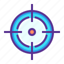 aim, crosshair, goal, hit, shoot, target icon