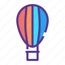 balloon, fly, parachute icon