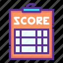 pad, paper, score, scorecard icon