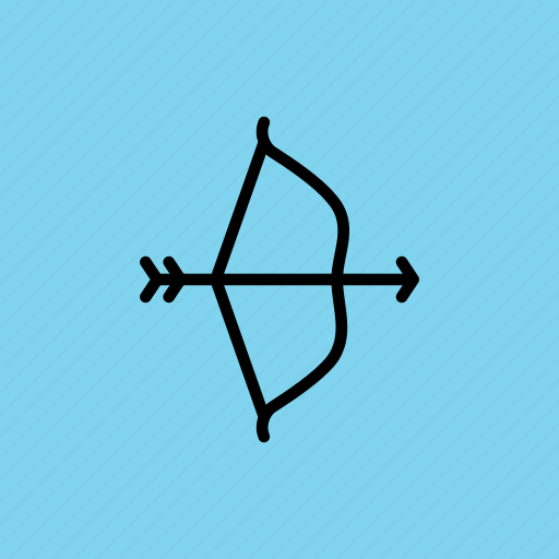 archery, arrow, bow, hit, hunt, olympics, target icon