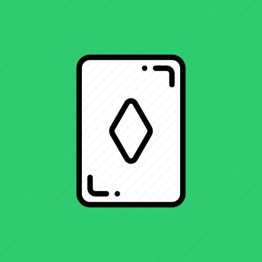 card, casino, diamond, gamble, luck, playing icon