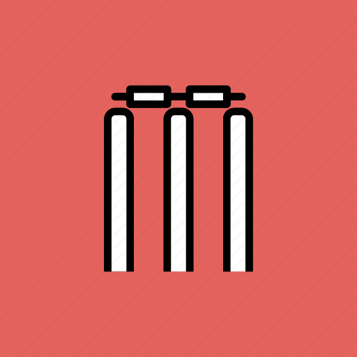 bails, cricket, game, out, play, stumps, wicket icon