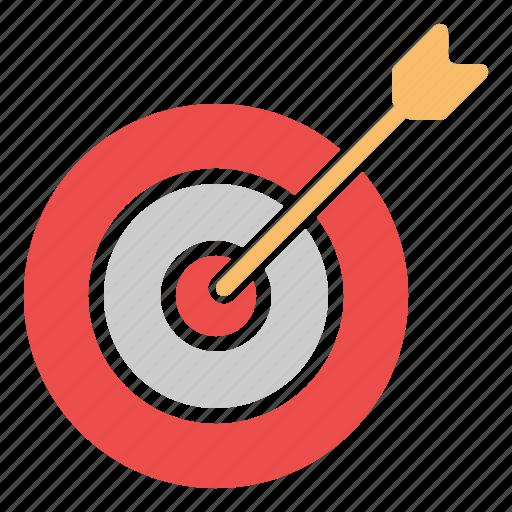 archery, arrow, board, bull, dart, eye icon