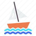 beach, boat, sail, sailing, sports, water, yacht icon