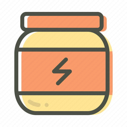 fitness, glucose, powder, sports, supplement, workout icon