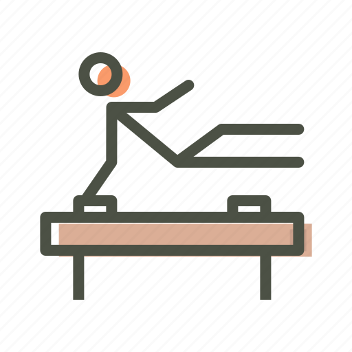 acrobatics, fitness, gym, gymnastics, training icon